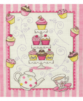Anchor Cross Stitch Kit (ACS44) - Cupcakes