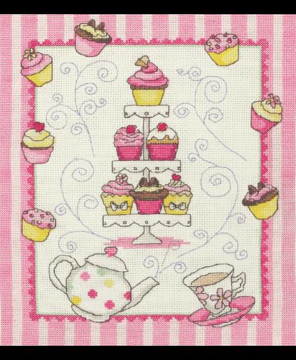 Anchor Cross Stitch Kit (ACS44) - Cupcakes