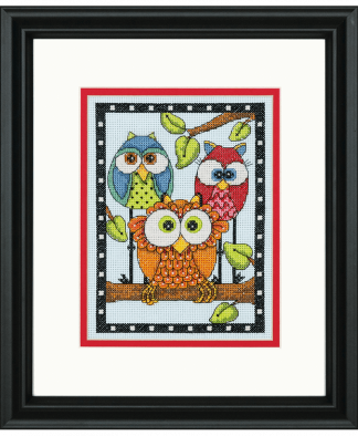 Dimensions Cross Stitch Kit (D70-65159) - Owl Trio