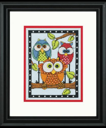 Dimensions Cross Stitch Kit (D70-65159) - Owl Trio