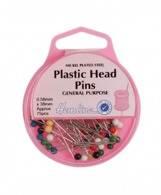 Hemline - Plastic Head Pins (H678)