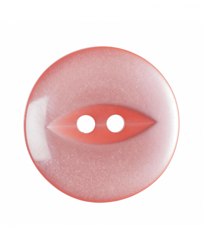 Round Fisheye Button - 26 Lignes (16mm) - Coral (G033926_7)