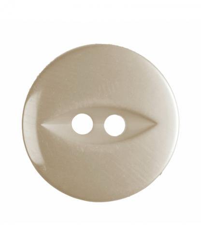 Round Fisheye Button - 26 Lignes (16mm) - Cream (G033926_42)