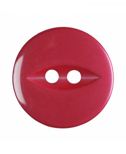 Round Fisheye Button - 26 Lignes (16mm) - Light Red (G033926_8)