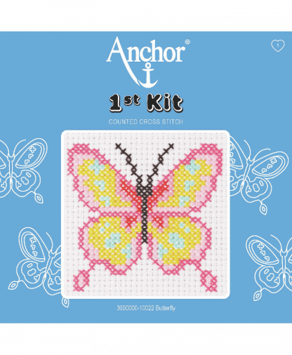 Anchor 1st Kit Counted Cross Stitch - Butterfly (10022)