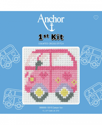 Anchor 1st Kit Counted Cross Stitch - Camper Van (10015)