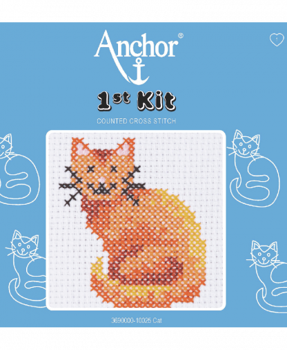 Anchor 1st Kit Counted Cross Stitch - Cat (10025)