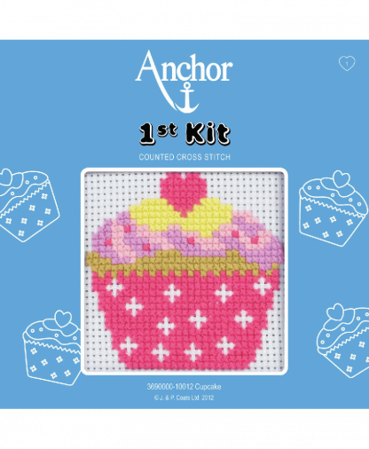 Anchor 1st Kit Counted Cross Stitch - Cupcake (10012)