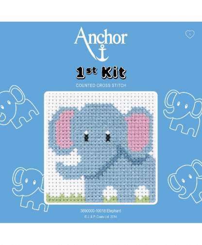 Anchor 1st Kit Counted Cross Stitch - Elephant (10018)