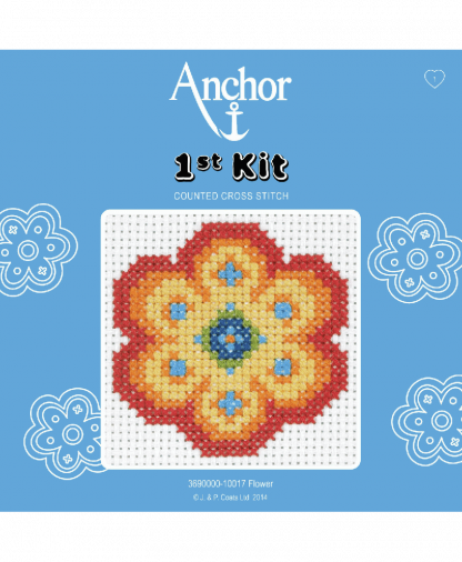Anchor 1st Kit Counted Cross Stitch - Flower (10017)