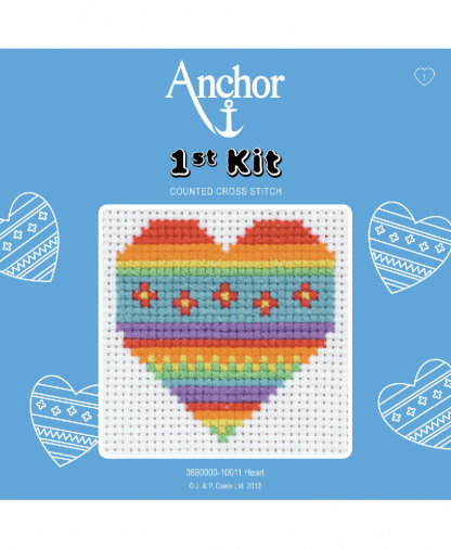 Anchor 1st Kit Counted Cross Stitch - Heart (10011)