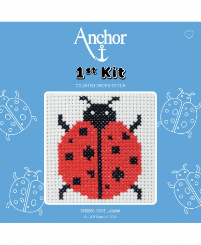 Anchor 1st Kit Counted Cross Stitch - Ladybird (10016)