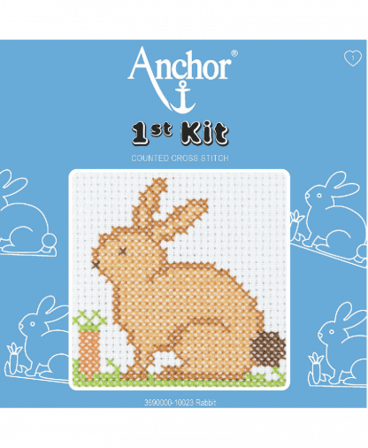 Anchor 1st Kit Counted Cross Stitch - Rabbit (10023)