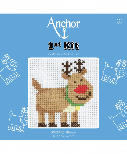 Anchor 1st Kit Counted Cross Stitch - Rudolph (10010)