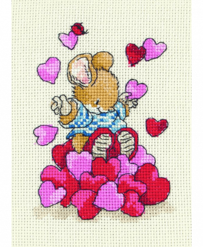 Anchor Country Companions Cross Stitch Kit - Tom With Hearts (CTM0109)