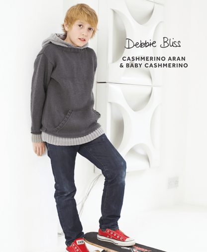 Debbie Bliss Baby Cashmerino - Boys Hooded Jumper (DB117)