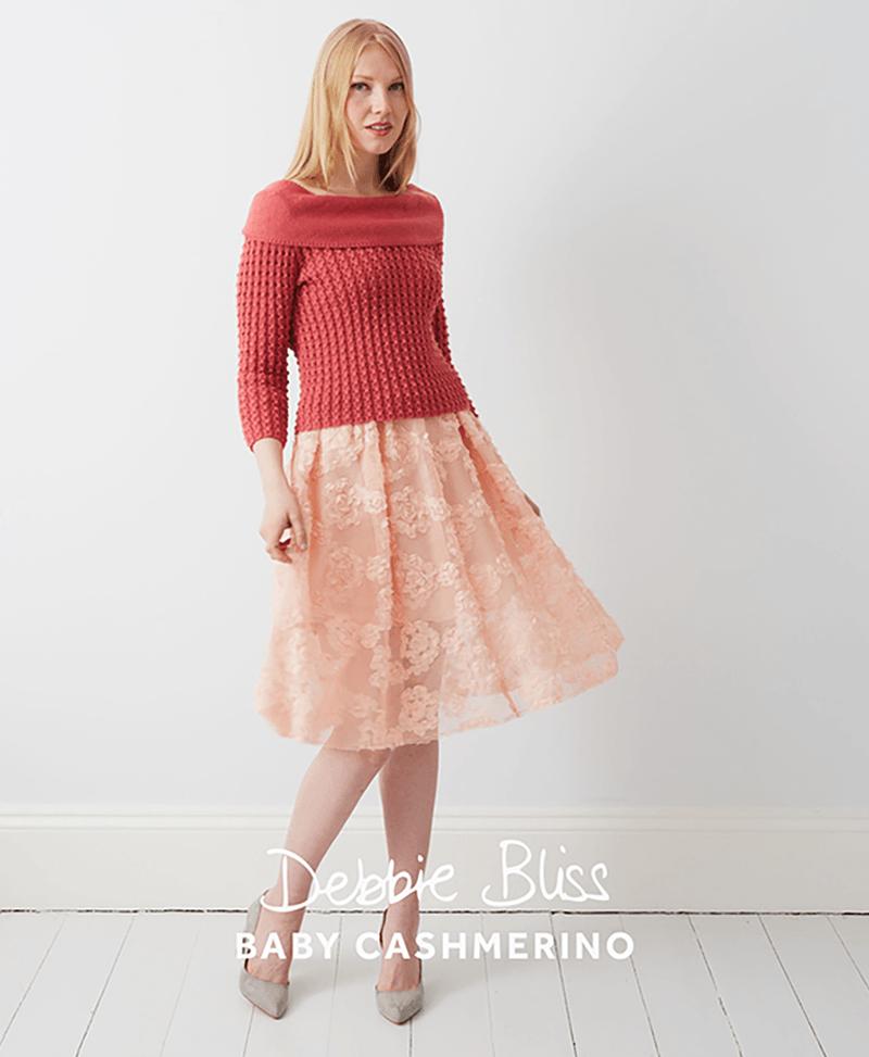 Debbie Bliss Db046 Baby Cashmerino Ladies Jumper Wool