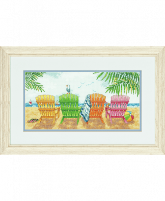 Dimensions Cross Stitch Kit - Beach Chairs (D70-35325)