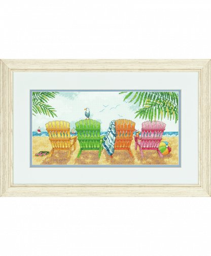 Dimensions Cross Stitch Kit - Beach Chairs (D70-35325)