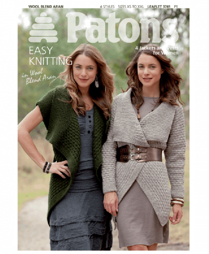 Patons - 4 Jackets and Vests for Women - Leaflet 3741