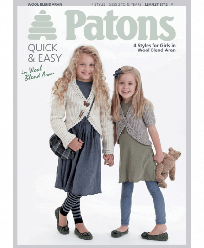 Patons - 4 Styles for Girls - Leaflet 3742