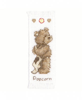 Popcorn By Vervaco - Popcorn Bear Bookmark Cross Stitch Kit (1695\VE01)