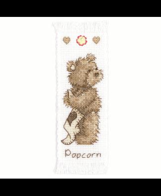 Popcorn By Vervaco - Popcorn Bear Bookmark Cross Stitch Kit (1695\VE01)