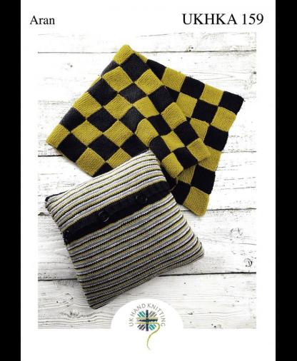UK Hand Knit Assoc. - Aran Blanket and Cushion (UKHKA 159)