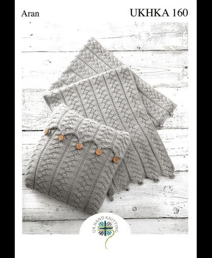 UK Hand Knit Assoc. - Aran Blanket and Cushion (UKHKA 160)