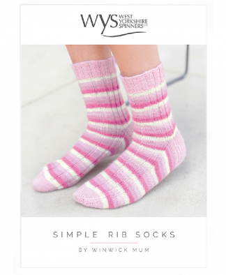 West Yorkshire Spinners - Simple Rib Socks Pattern
