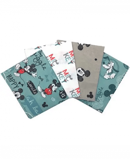 Craft Cotton Co - Disney Mickey Mouse Fat Quarters - Mint