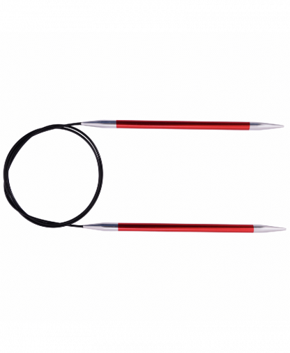 Knit Pro Fixed Circular Knitting Needles - Zing 80cm - 5.50mm (KP47132)