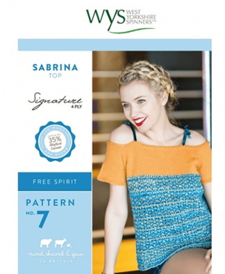 West Yorkshire Spinners Signature 4 Ply - Pattern No 7 - Sabrina Top