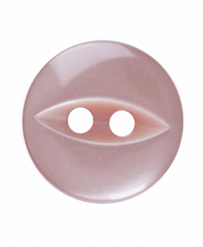 Round Fisheye Button - 18 Lignes (11mm) - Beige (G033918_027)