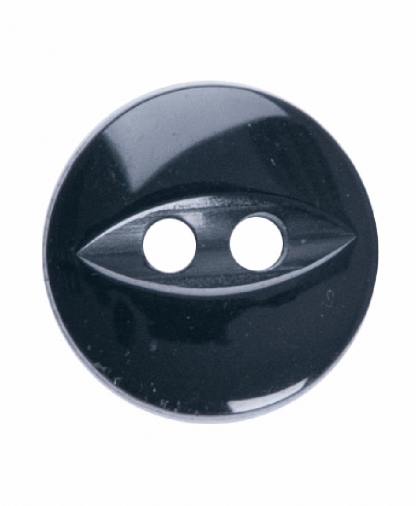 Round Fisheye Button - 18 Lignes (11mm) - Black (G033918_034)