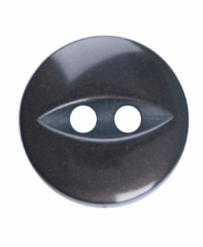 Round Fisheye Button - 18 Lignes (11mm) - Brown (G033918_030)