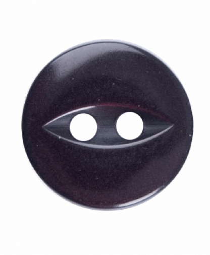 Round Fisheye Button - 18 Lignes (11mm) - Burgundy (G033918_012)