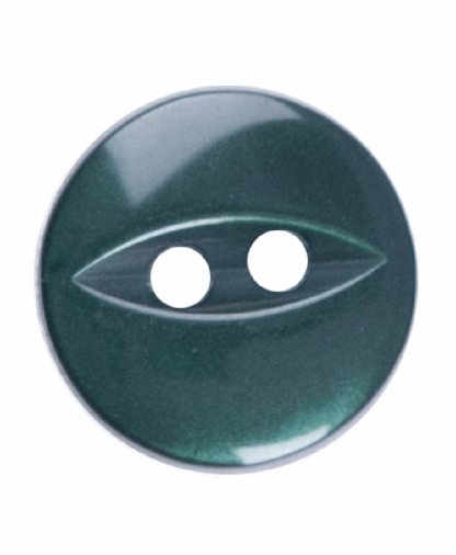Round Fisheye Button - 18 Lignes (11mm) - Dark Green (G033918_026)