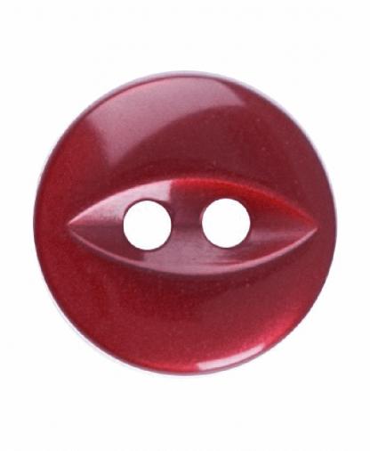 Round Fisheye Button - 18 Lignes (11mm) - Dark Pink (G033918_007)