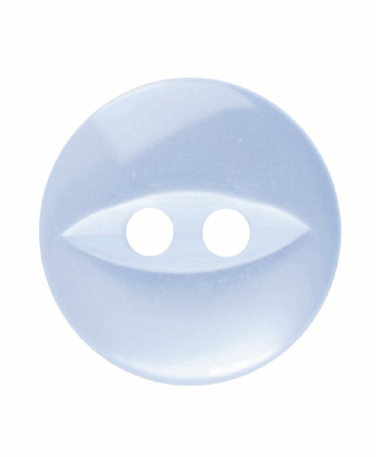 Round Fisheye Button - 18 Lignes (11mm) - Light Blue (G033918_015)