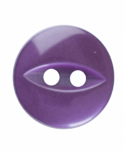 Round Fisheye Button - 18 Lignes (11mm) - Purple (G033918_014)