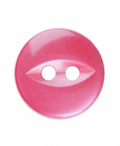 Round Fisheye Button - 18 Lignes (11mm) - Light Red (G033918_008)
