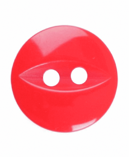 Round Fisheye Button - 18 Lignes (11mm) - Red (G033918_108)