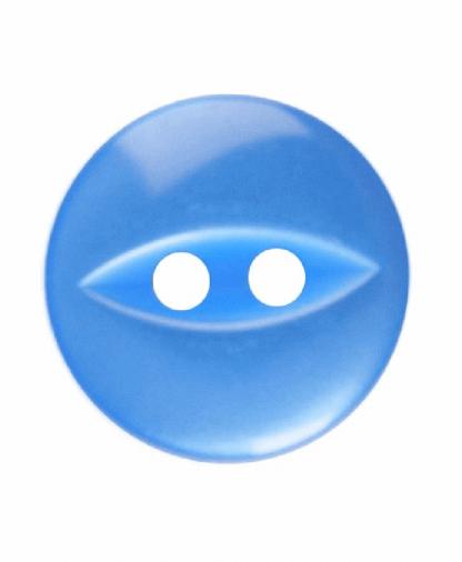 Round Fisheye Button - 18 Lignes (11mm) - Royal Blue (G033918_090)