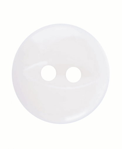 Round Fisheye Button - 18 Lignes (11mm) - White (G033918_101)