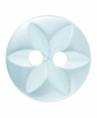 Round Star Button - 18 Lignes (11mm) - Green (G203218_37)
