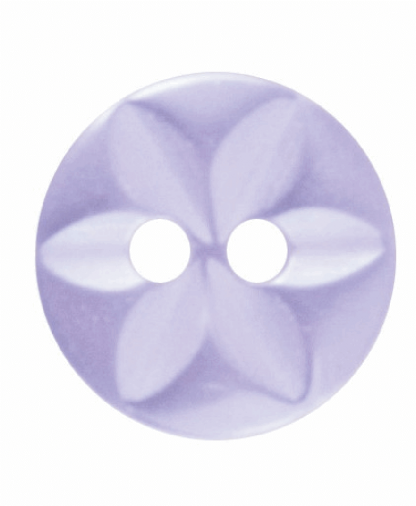 Round Star Button - 18 Lignes (11mm) - Lilac (G203218_11)