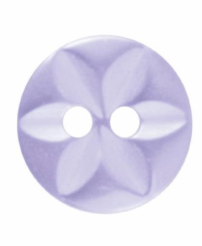Round Star Button - 18 Lignes (11mm) - Lilac (G203218_11)