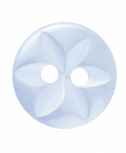 Round Star Button - 18 Lignes (11mm) - Pale Blue (G203218_15)