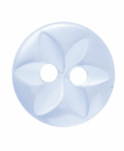 Round Star Button - 18 Lignes (11mm) - Pale Blue (G203218_15)